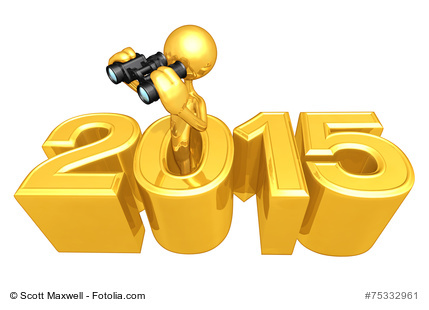 Holding Binoculars Coming Out Of The Year