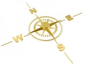 Gold Kompass